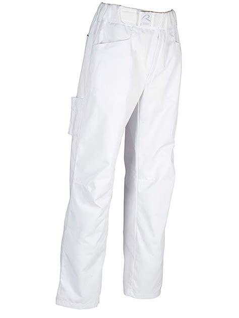 pantalon cuisine homme pantalon boulanger patissier arenal blanc robur