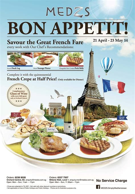 cuisine bon appetit savour cuisine crêpes affordably medzs bon appetit promotion great deals singapore