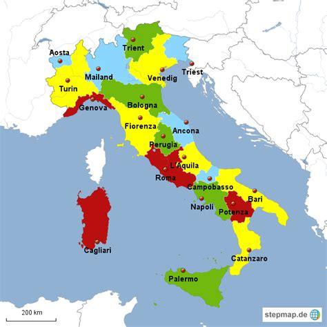 stepmap italienische provinzen mit hauptstaedten