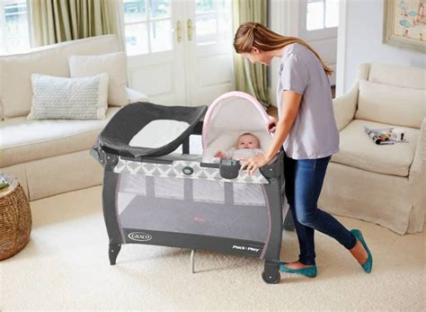pack n play with flip changing table small graco pack n play with bassinet and changing table