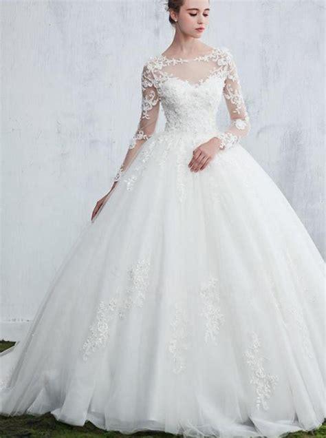 princess wedding gownwedding dresses  long sleeves