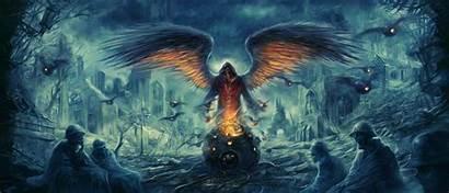 Dark Angel Artwork Apocalyptic Science Fiction Gloomy