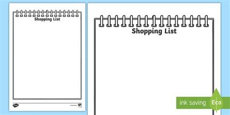 role play shopping lists teacher