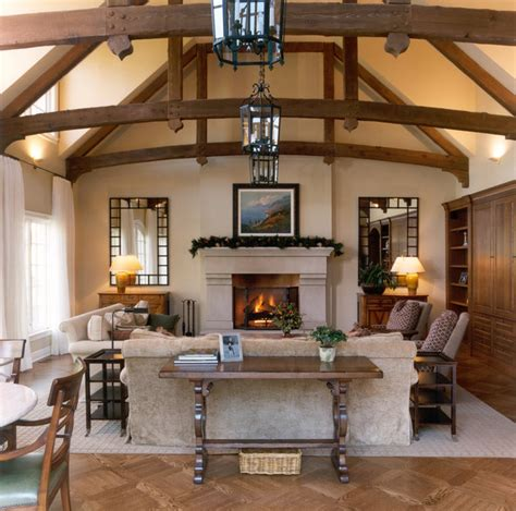 Lighting Fixtures For Cathedral Ceilings by Living Room W Wood Beam Ceiling Traditional Living