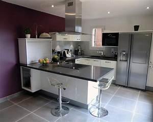 cuisine en u moderne cusine complete meubles rangement With photo cuisine equipee moderne