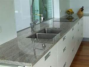 White Kitchen Cabinets with Gray Granite Countertops : Top ...