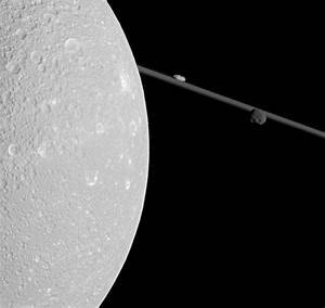 Spectacular view of Saturn's moon Dione captured as ...