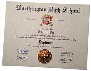 fake high school diplomas and certificates With free fake high school diploma templates