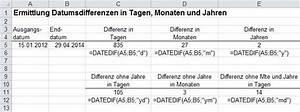 Parameter Berechnen : excel inside solutions datumsdifferenzen in tagen monaten und jahren berechnen ~ Themetempest.com Abrechnung