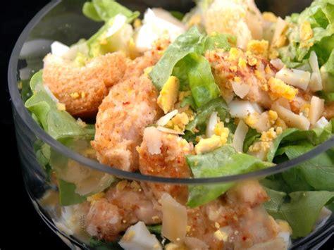 recette de cuisine regime salade césar au poulet light recette de salade césar au