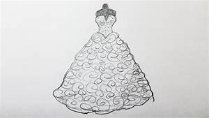 comment dessiner une robe de mariee youtube With dessiner un modele de robe
