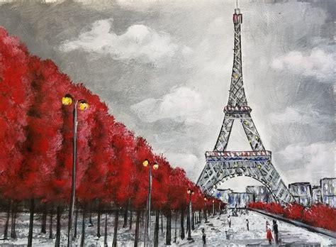 love  easy eiffel tower acrylic painting