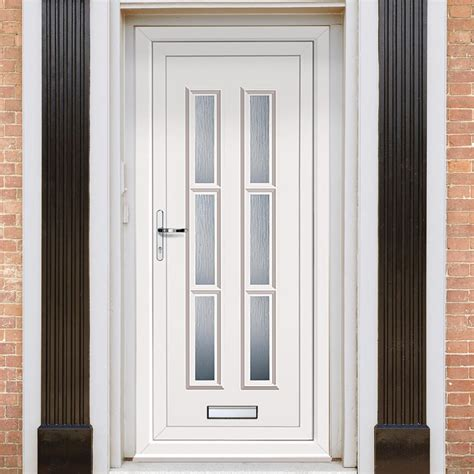 exterior lyon  upvc door external white pvc doors