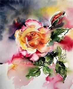 Aquarell Malen Blumen : 2 rose aquarell 24x30cm aquarell blumen pinterest ~ Articles-book.com Haus und Dekorationen