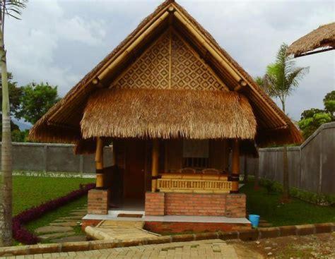 desain rumah bambu unik informasi desain  tipe rumah