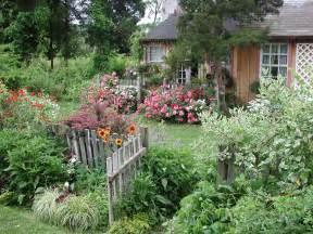 flower carpet roses cottage garden gate flower