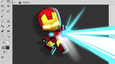 draw  chibi style iron man  adobe animate