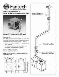 Installation Instructions For Model Dblt4 Secondary Dryer