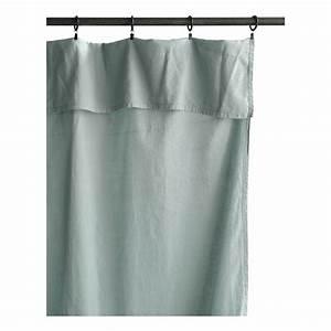Rideau Bleu Gris : rideau lina 140x280 cm bleu gris la cerise sur le g teau design ~ Teatrodelosmanantiales.com Idées de Décoration