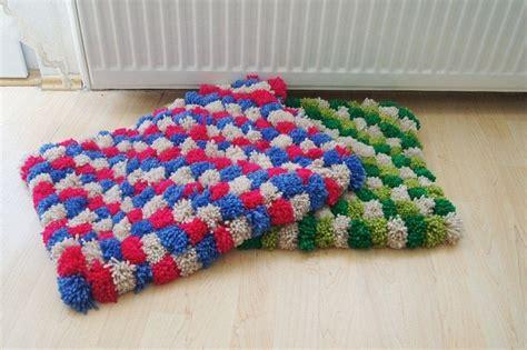 pom poms bath mat bathroom rug doormat pet mat