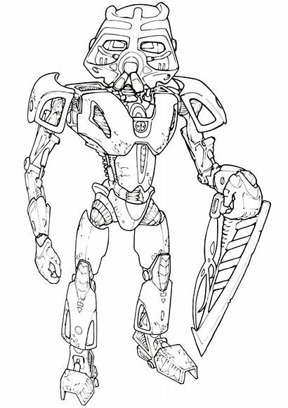Lego Coloring Pages Bionicle Coloringway