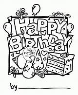 Coloring Birthday Cards Happy Printable Boy Printables Nice Wuppsy Boys Holiday Drawing Children Template Holidays Cake Popular Greeting Coloringhome sketch template