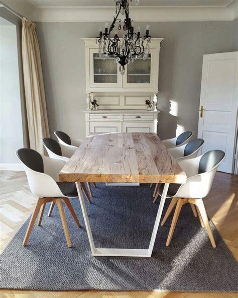Moderne Esstische Und Stühle by Betontisch Esstisch Modern Massiv Holz Auf Beton Nach Ma 223