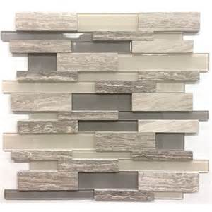 kitchen backsplash tiles for sale avenzo 12 in x 12 in 3d wooden light grey and glass linear mosaic wall tile lowe 39 s canada