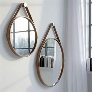 Miroir Rond Cuir : miroir cuir rond 2 id es de d coration int rieure french decor ~ Teatrodelosmanantiales.com Idées de Décoration