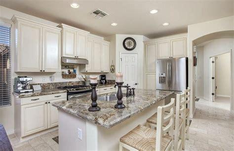 antique white cabinets enhance  kitchen