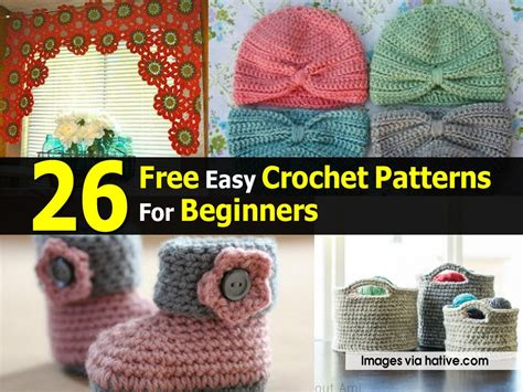 easy crochet patterns  beginners