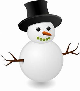 Cute snowman with black hat vector | Free PSD,Vector,Icons