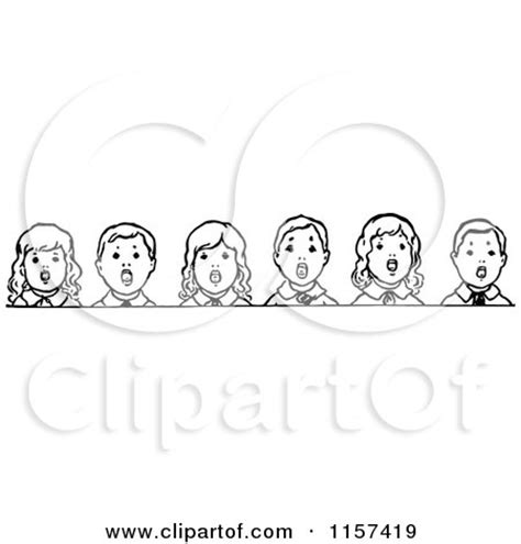 children singing clipart black and white royalty free illustrations by prawny vintage page 2