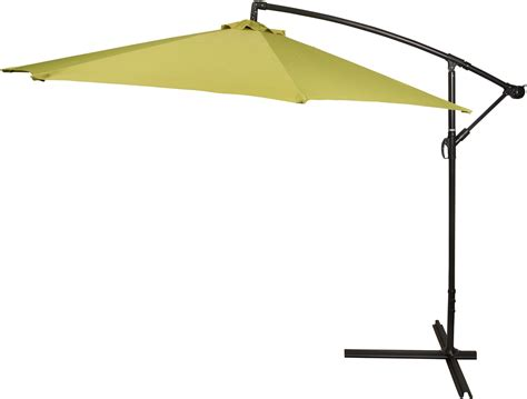 10 deluxe polyester light green offset patio umbrella by