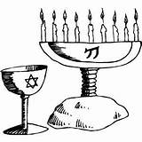 Objects Coloring Religious Candelabra Pages Crayons Jewish Religions Scissors Coloringpages101 sketch template