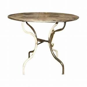 Table Fer Forgé Ronde : table ronde en fer forg les jardins de valcrisse ~ Teatrodelosmanantiales.com Idées de Décoration