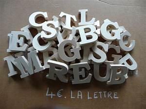 Lettre Decorative A Poser : lettres d co standard naturel pr noms en bois plaque de ~ Dailycaller-alerts.com Idées de Décoration