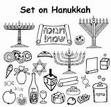 Coloring Pages Holiday Jewish Vector Hanukkah Clip Happy Illustrations Yarmulke Star Graphic Hebrew Text Sheets Similar Vectors Sameach sketch template