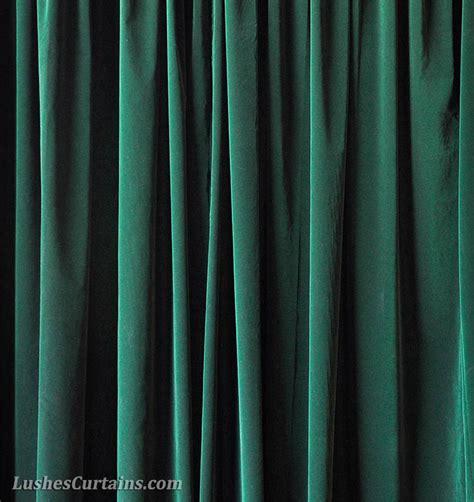 72 quot h forest green velvet curtain panel w rod pocket top