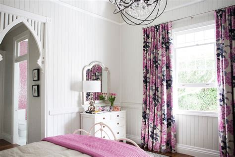 pink  gray curtains transitional girls room highgate house