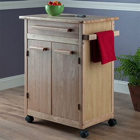 kitchen storage cabinets with drawers winsome wood single drawer kitchen cabinet storage cart 8613