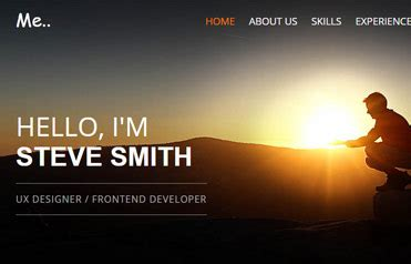 resume portfolio template   webthemez