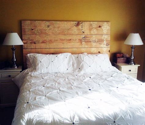 Painted Wood Headboards by Before After Painted Plank Headboard Design Sponge