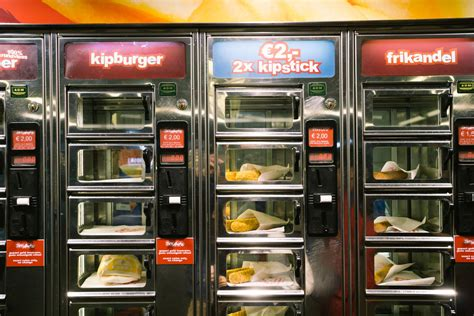 machine cuisine febo vs smullers fast food vending machines in amsterdam