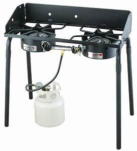 2-burner Camp Stove Outdoor Patio Gas Burner Portable ...
