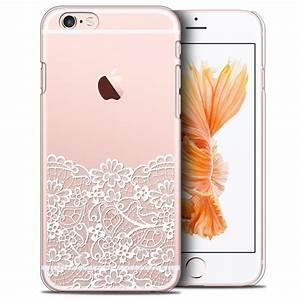 Coque Iphone 6 : coque crystal iphone 6 6s plus 5 5 extra fine design made in france bas dentelle ~ Teatrodelosmanantiales.com Idées de Décoration