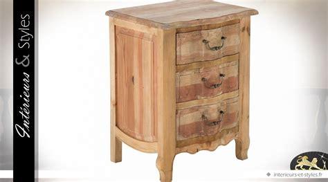 table de chevet haute rustique pin recycl 233 3 tiroirs int 233 rieurs styles