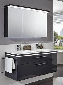 Badmöbel Set Abverkauf : puris cool line badm bel set spiegelschrank inkl gesimsboden mit led fl chenleuchte badm bel 1 ~ Buech-reservation.com Haus und Dekorationen