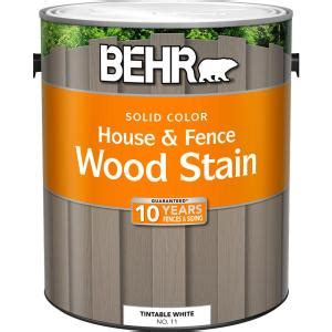 behr  gal white base solid color house  fence wood