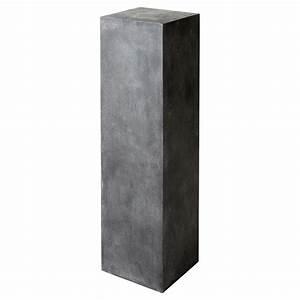 colonne anthracite beton mineral maisons du monde With colonne maison du monde